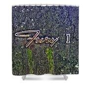 Plymouth Fury Logo Shower Curtain by Dan Stone