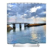 Plymouth Sunset Shower Curtain by Tammy Wetzel