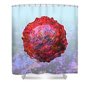 Polio Virus Particle Or Virion Poliovirus 2 Shower Curtain by Russell Kightley