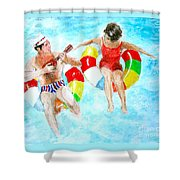 Pool Shower Curtain by Beth Saffer