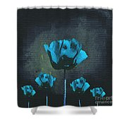 Poppies Fun 01 - Bb Shower Curtain by Variance Collections