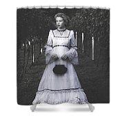 porcelain doll Shower Curtain by Joana Kruse