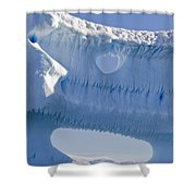 Portion Of A Gigantic Iceberg Shower Curtain by Ron Watts