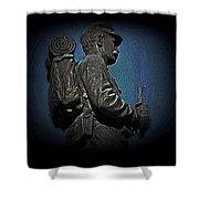 Portrait 31 American Civil War Shower Curtain by David Dehner