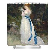 Portrait Of Lise   Shower Curtain by Pierre Auguste Renoir