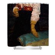 Portrait Of Miss Macwirter Shower Curtain by Sir Lawrence Alma-Tadema