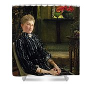 Portrait Of Mrs Ralph Sneyd Shower Curtain by Sir Lawrence Alma-Tadema