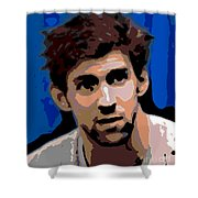 Portrait Of Phelps Shower Curtain by George Pedro