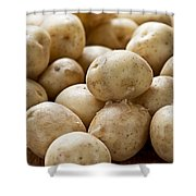 Potatoes Shower Curtain by Elena Elisseeva
