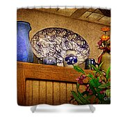 Pottery Still Life Shower Curtain by Judi Bagwell