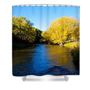 Poudre River Shower Curtain by Dana Kern