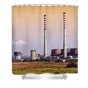 Power Plant Shower Curtain by Carlos Caetano