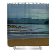 Powlett River Inlet On A Stormy Morning Shower Curtain by Blair Stuart
