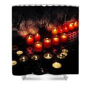 Prague Church Candles Shower Curtain by Stelios Kleanthous