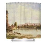 Prague Czechoslovakia Shower Curtain by William Wyld
