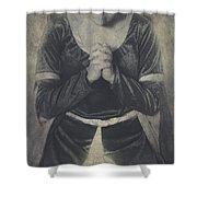 Prayer Shower Curtain by Joana Kruse