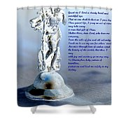Prayer To St Christopher Shower Curtain by Maria Urso
