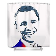 president of the United States Shower Curtain by Robert Margetts