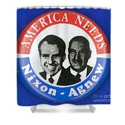 Presidential Campaign:1972 Shower Curtain by Granger