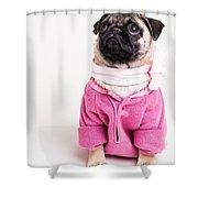 Pretty In Pink Shower Curtain by Edward Fielding