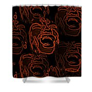 Primal Screams Shower Curtain by David Dehner