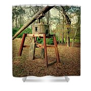 Primitive Sugar Cane Mill Shower Curtain by Tamyra Ayles