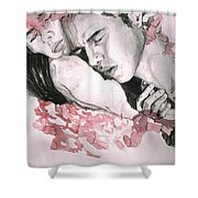 Prodigal Lover Shower Curtain by Rene Capone