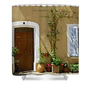 Provence Door 3 Shower Curtain by Lainie Wrightson