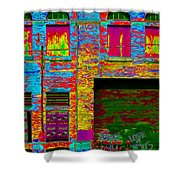 Psychadelic Architecture Shower Curtain by Andrew Fare