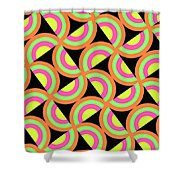 Psychedelic Squares Shower Curtain by Louisa Knight