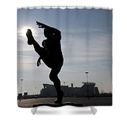 Punting The Sun - Philadelphia Shower Curtain by Bill Cannon