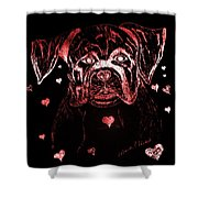 Puppy Love Shower Curtain by Maria Urso