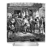 Puritans And Quakers, 1677 Shower Curtain by Granger