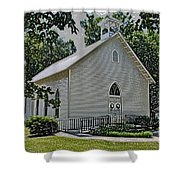 Quaker Church Pencil Shower Curtain by Scott Hervieux