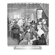 Quaker Meeting, 1888 Shower Curtain by Granger