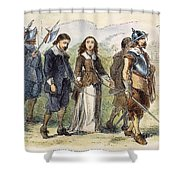 Quakers: Mary Dyer, 1659 Shower Curtain by Granger