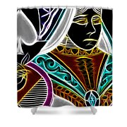Queen Of Spades - V4 Shower Curtain by Wingsdomain Art and Photography