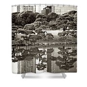 Quiet Moment In Tokyo Shower Curtain by Carol Groenen