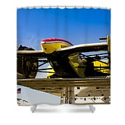 Racing Car Nose Shower Curtain by Darcy Michaelchuk
