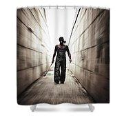 Rage Shower Curtain by Stelios Kleanthous