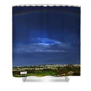 rainbow Shower Curtain by Stylianos Kleanthous
