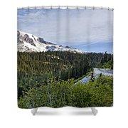 Rainier Journey Shower Curtain by Mike Reid