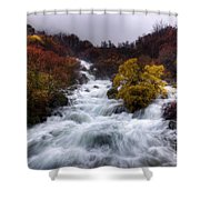 Rapid Waters Shower Curtain by Carlos Caetano