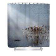 Rays Of Light Shower Curtain by Joana Kruse