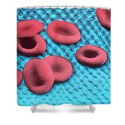 Red Blood Cells, Sem Shower Curtain by Science Source
