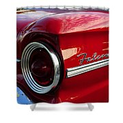 Red Falcon Shower Curtain by David Lee Thompson