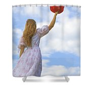 Red Hat Shower Curtain by Joana Kruse