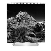 Red Rock Canyon At Spring Mountain Shower Curtain by David Patterson