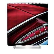 Red Tail Impala Vintage '59 Shower Curtain by Douglas Pittman