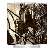 Reflecting In Little Italy Shower Curtain by Catie Canetti